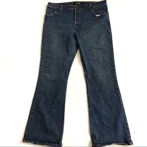 Levis Low Rise Flare Stretch Jeans Size 17